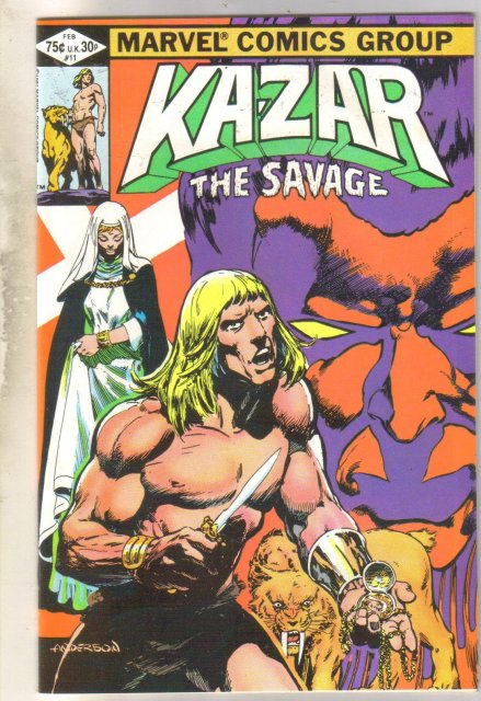 Kazar The Savage #11 comic book mint 9.8