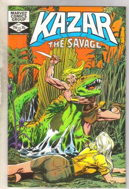 Kazar The Savage #18 comic book near mint 9.4