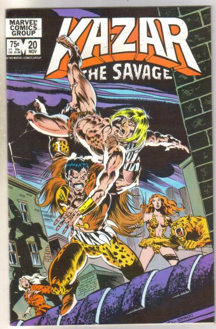 Kazar The Savage #20 comic book near mint 9.4