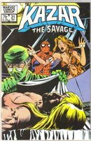 Kazar The Savage #21 comic book near mint 9.4