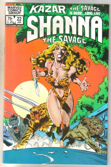 Kazar The Savage #22 comic book near mint 9.4