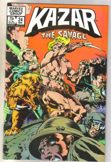 Kazar The Savage #24 comic book near mint 9.4