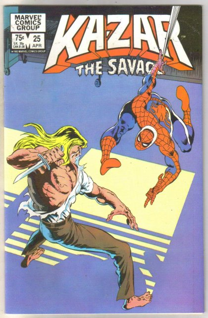 Kazar The Savage #25 comic book near mint 9.4