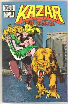 Kazar The Savage #26 comic book near mint 9.4