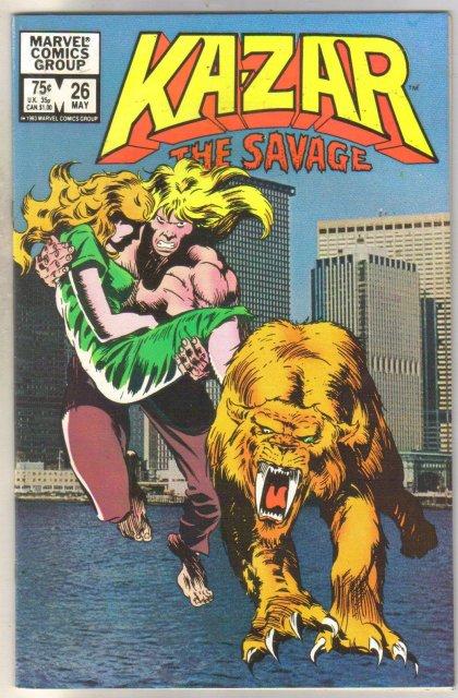 Kazar The Savage #26 comic book near mint 9.4