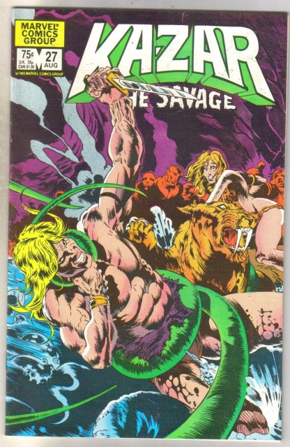 Kazar The Savage #27 comic book near mint 9.4
