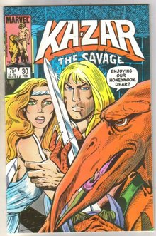Kazar The Savage #30 comic book mint 9.8