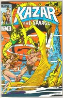 Kazar The Savage #31 comic book near mint 9.4