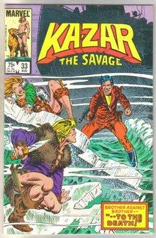 Kazar The Savage #33 comic book mint 9.8