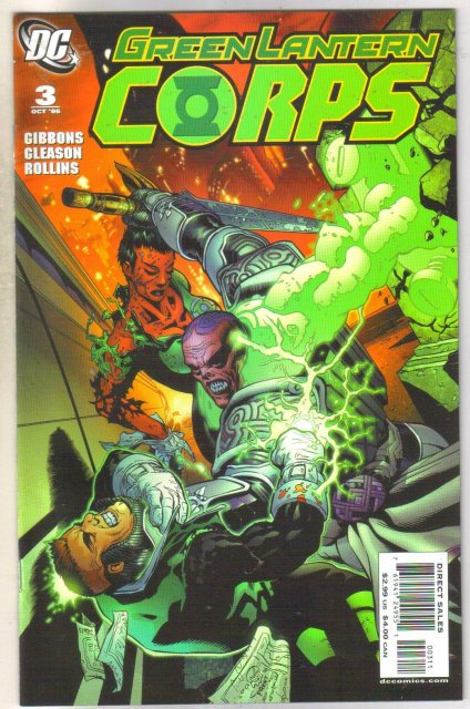 Green Lantern Corps #3 comic book near mint 9.4