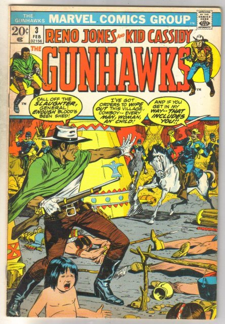 Reno Jones and Kid Cassidy Gunhawks #3 comic book very good/fine 5.0