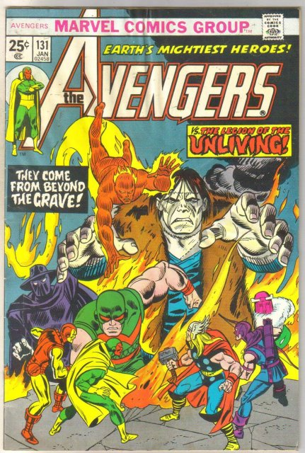 Avengers #131 comic book very good 4.0