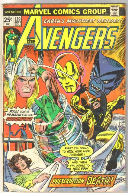 Avengers #139 comic book very good 4.0