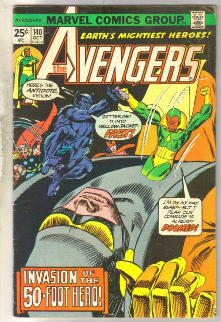 Avengers #140 comic book very good 4.0