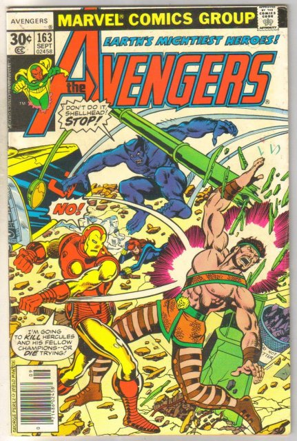 Avengers #163 comic book very good/fine 5.0