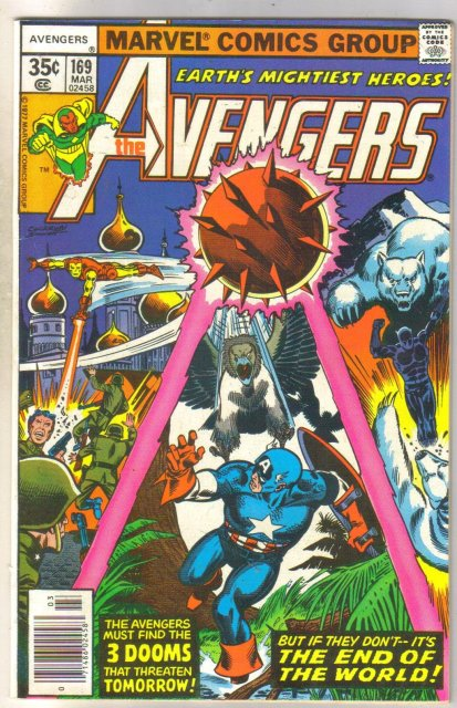 Avengers #169 comic book very fine/near mint 9.0