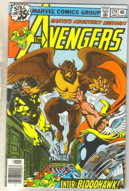 Avengers #179 comic book very fine 8.0
