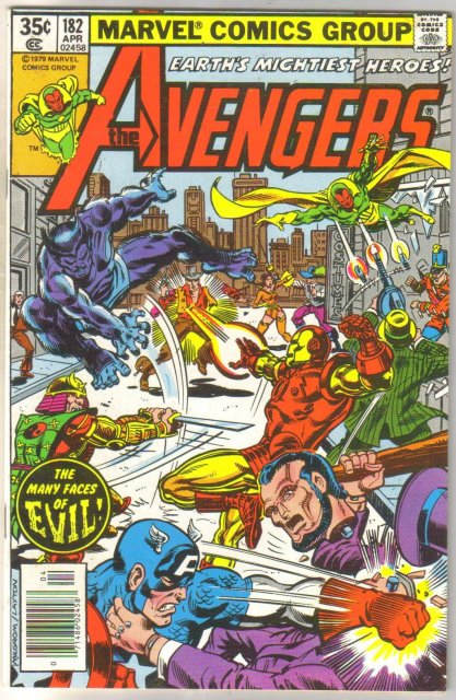 Avengers #182 comic book very fine 8.0