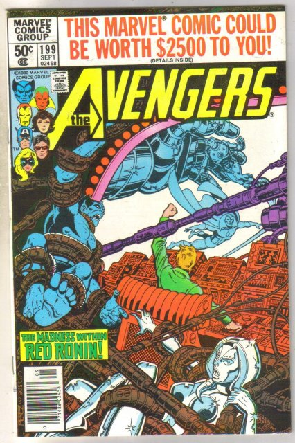 Avengers #199 comic book near mint 9.4