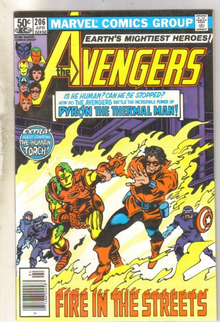 Avengers #206 comic book near mint 9.4