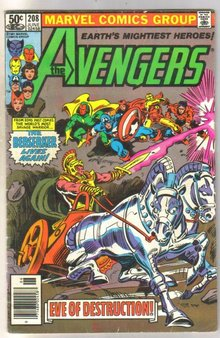 Avengers #208 comic book very good 4.0