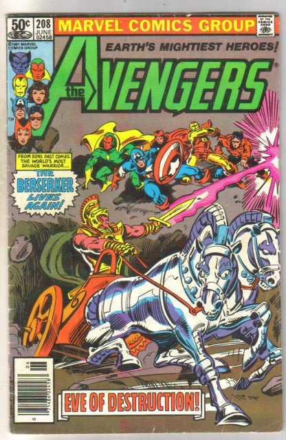 Avengers #208 comic book very good 4.0