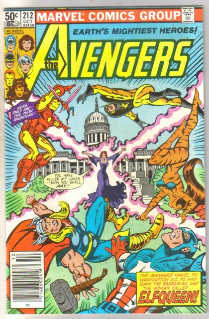 Avengers #212 comic book near mint 9.0