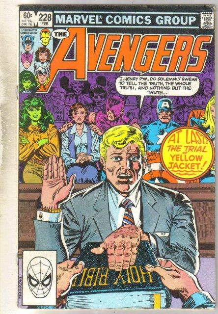 Avengers #228 comic book fine 6.0
