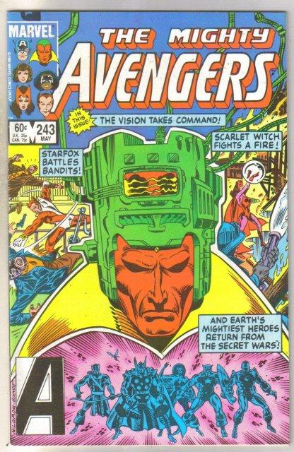 Avengers #243 comic book near mint 9.4