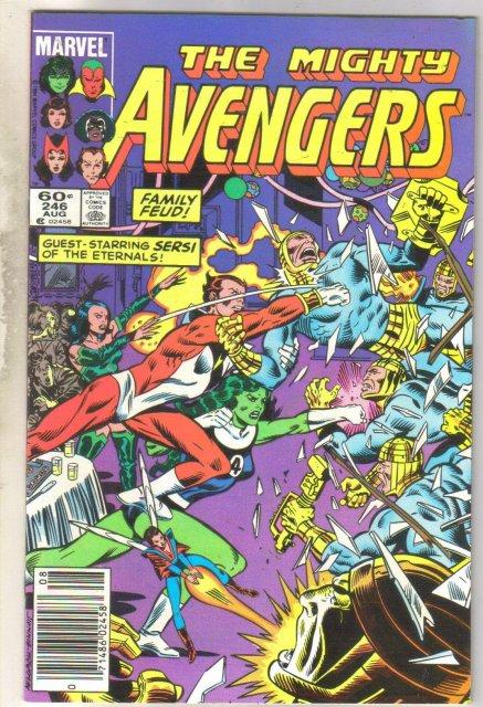 Avengers #246 comic book near mint 9.4