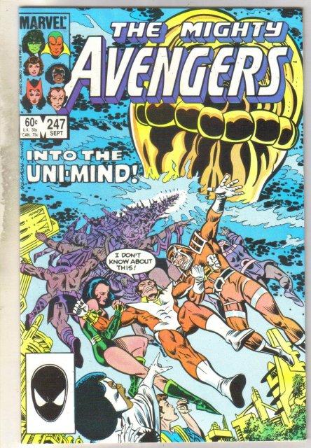 Avengers #247 comic book near mint 9.4