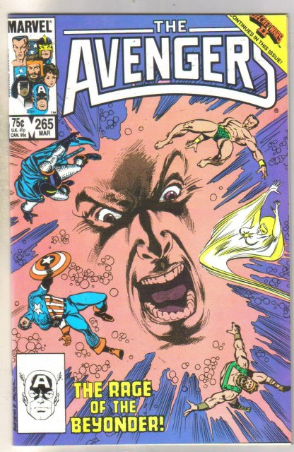 Avengers #265 comic book near mint 9.4