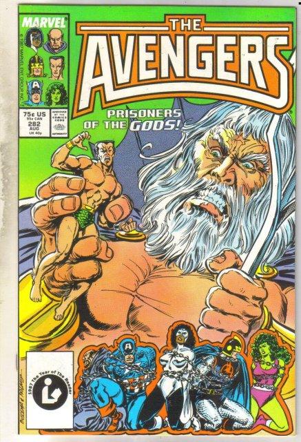 Avengers #282 comic book near mint 9.4