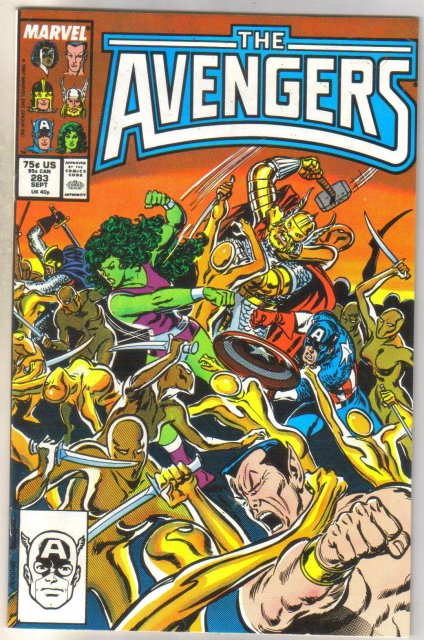 Avengers #283 comic book near mint 9.4