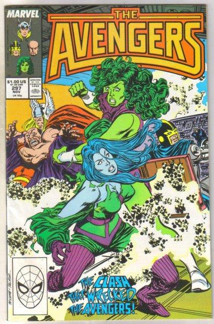 Avengers #297 comic book near mint 9.4