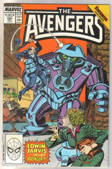 Avengers #298 comic book near mint 9.4