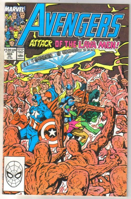 Avengers #305 comic book near mint 9.4