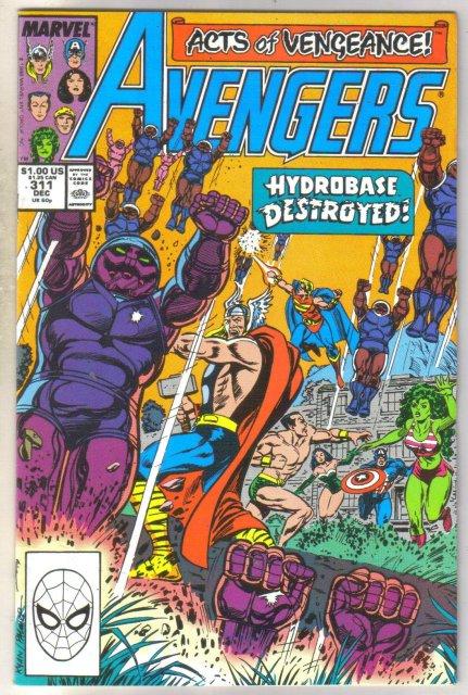 Avengers #311 comic book near mint 9.4