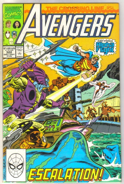 Avengers #322 comic book mint 9.8