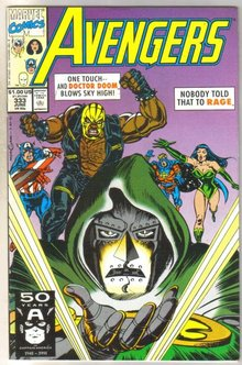 Avengers #333 comic book near mint 9.4