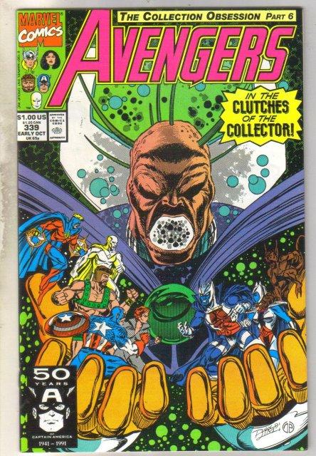 Avengers #339 comic book mint 9.8
