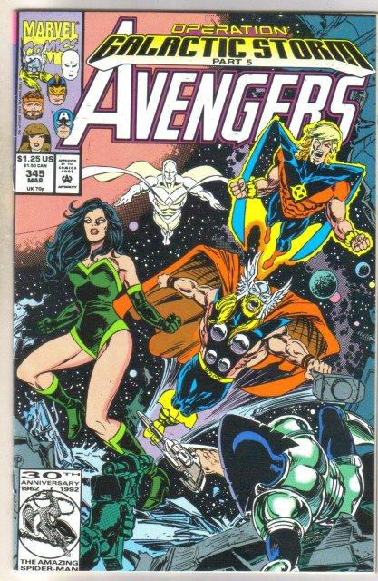 Avengers #345 comic book near mint 9.4