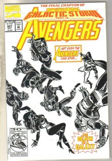 Avengers #347 comic book near mint 9.4