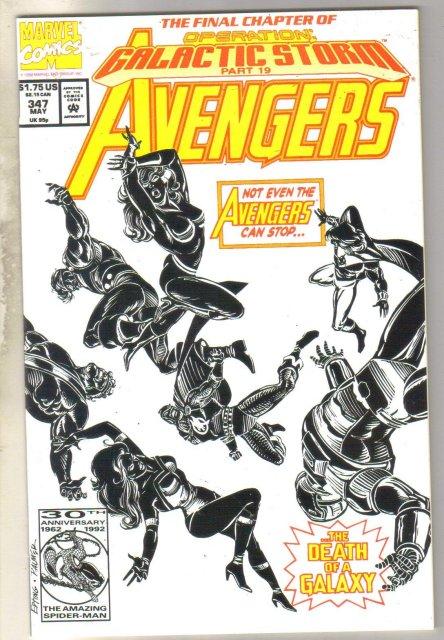 Avengers #347 comic book near mint 9.4