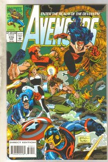 Avengers #370 comic book near mint 9.4