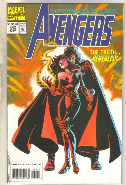 Avengers #374 comic book near mint 9.4