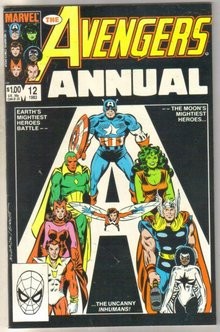 Avengers Annual #12 comic book very fine 8.0