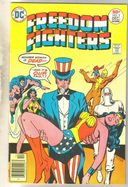 Freedom Fighters #5 comic book very fine 8.0