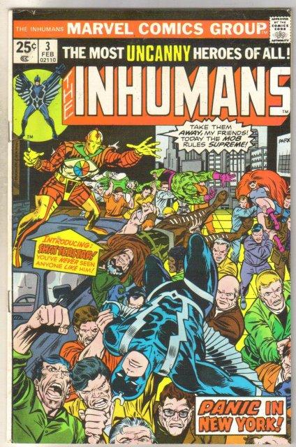 Inhumans #3 comic book fine 6.0