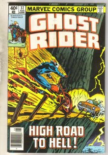 Ghost Rider #37 comic book very fine 8.0